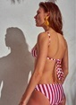 Morhipo Beach Çizgili Bikini Kırmızı